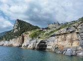 The cliff in Portovenere, Italy — Stockfoto