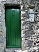 Typical door in Portovenere, Liguria, Italy — Stock Photo
