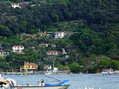 Boat in the bay of Portovenere, Liguria, Italy — Stock Photo