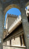 Courtyard of the Palace of the Popes in Avignon, France — Stock fotografie
