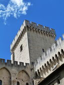 Courtyard of the Palace of the Popes in Avignon, France — Stock Photo