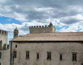 Roof of the Papal Palace in Avignon, France — Stok fotoğraf