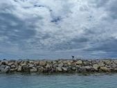 View of the sea at St Maries de la Mer, Camargue, France — Stock Photo