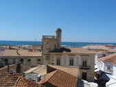 View of St Maries de la Mer from the roof of the church of Notre Dame de la Mer — Photo