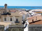 Vista di st maries de la mer dal tetto della chiesa di notre dame de la mer — Foto Stock