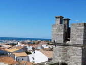 View of St Maries de la Mer from the roof of the church of Notre Dame de la Mer — 图库照片