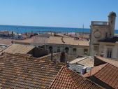 View of St Maries de la Mer from the roof of the church of Notre Dame de la Mer — Foto Stock