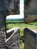 View from the tower of Montmajour abbey, Provence, France — Stockfoto