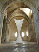 Art installation in Montmajour abbey, Provence, France — Stock Photo
