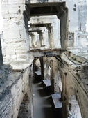 Inside the Roman amphitheater in Arles, France — Foto de Stock