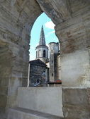 View of Arles from the roman amphitheater, France — Stock Photo