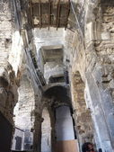 Inside the Roman amphitheater in Arles, France — Stock Photo