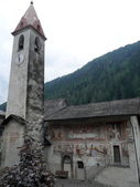 Church of Cogolo, Trentino, Italy — Stock Photo