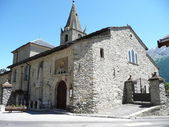 Church of Aussois, French Savoy — Stock Photo