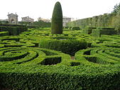 Italian garden in the park of Villa Lante, Bagnaia, Viterbo, Italy — Stock Photo