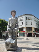 Statue in a square of Lagos, Portugal — Stock Photo