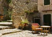Small sitting room in the open-air, Poggio - Elba Island — Stock Photo
