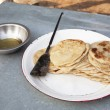 Roti for breakfast — Stock Photo