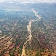 River with out water in Bird eye view — Stock Photo #35639495