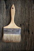Brown paint brush — Stock Photo