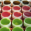 Stock Photo: Colourful jelly in eggshell