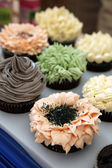 Colourful cupcake in party — Stock Photo