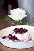 Mixed berries panacotta — Stock Photo