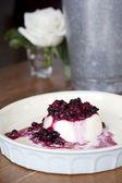 Mixed berries panacotta — Stock Photo