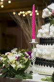 Vela rosa em cerimônia de casamento — Fotografia Stock