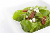 Rocket salad with mozzarella cheese — Stock Photo