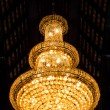 Beautiful crystal chandelier — Foto Stock