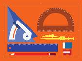 Architect tool — Stock Vector