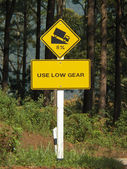 Use low gear traffic signs — Stock Photo