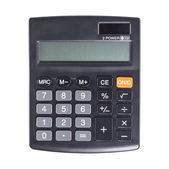 Calculator on a White Background — Stock Photo