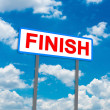 Finish sign — Stock Photo