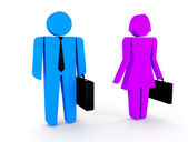 3d man , woman business . 3d illustration — Stock Photo