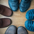 Shot of several types of shoes — Stok fotoğraf