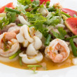 Thai spicy seafood salad — Stock Photo