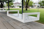 White Swing seats — Stock Photo