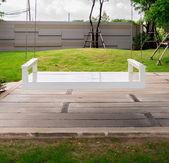 Bílá sedátka — Stock fotografie