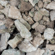 Concrete rubble debris — Stock Photo