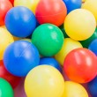 Many colour plastic balls — Foto de Stock