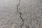 Old worn and cracked asphalt with cracks — Stock Photo