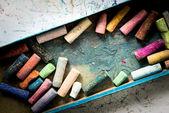 Colored chalk , paper art — Stok fotoğraf