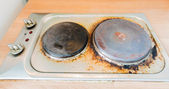 Rust stains on the electric stove — Foto de Stock