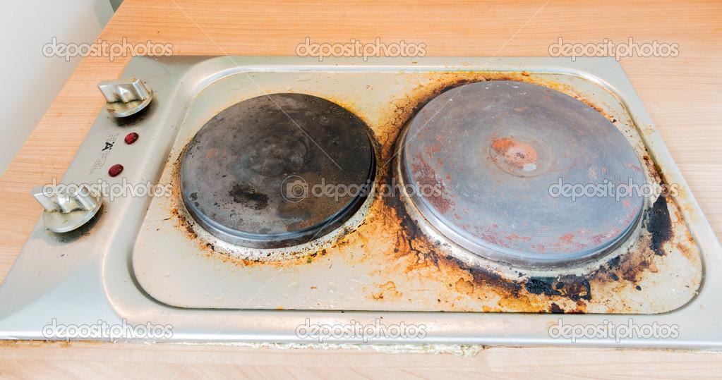 Taches de rouille sur la plaque de cuisson lectrique photo 31539155 - Nettoyer plaque electrique rouille ...