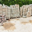 Stack of Cement block — Stock Photo