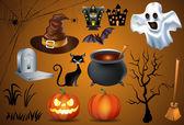 Symbol-Halloween-Farbe — Stockvektor