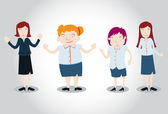 Office Girl Characters — Vector de stock