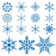 Snowflake set1 Vectors — Stock Vector